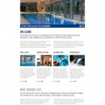 Project Pool Website - home page with teasers